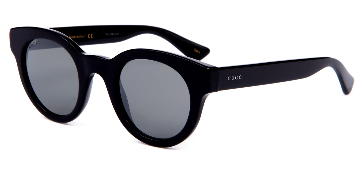 Gucci Oval Black Mens Sunglasses - GG0002S-001
