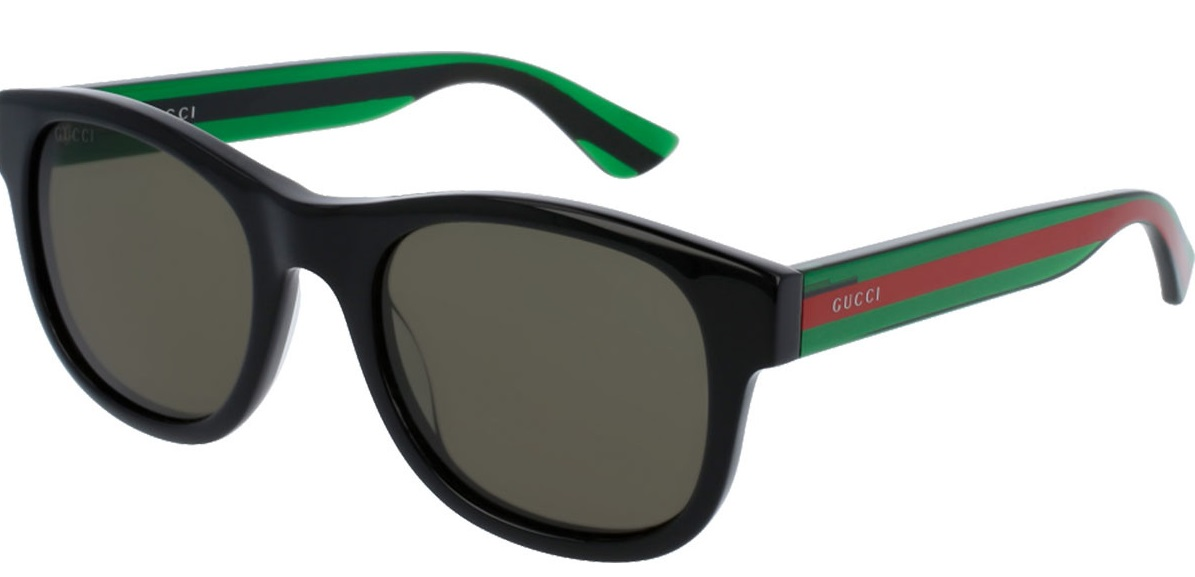 Gucci Black Square Mens Sunglasses - GG0003S-002