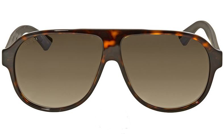 Gucci Dark Havana Aviator Sunglasses GG0009S-003