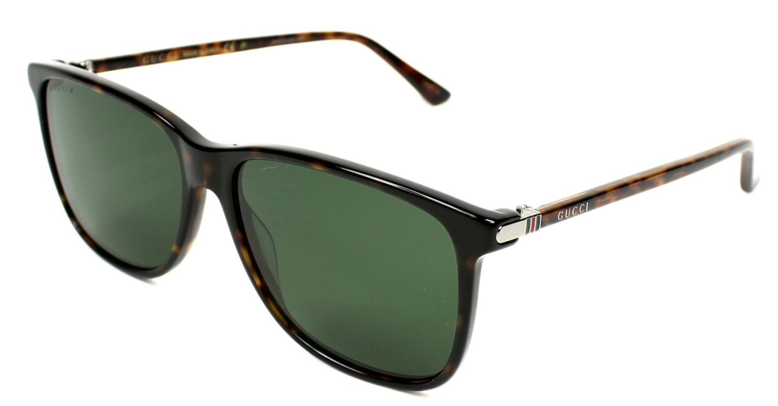 Gucci Havana Square Mens Sunglasses - GG0017S-007