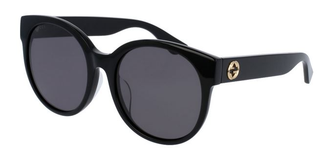 Gucci Black Round Ladies Sunglasses - GG0035SA-001