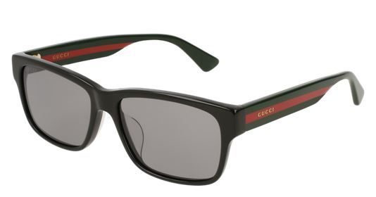 Gucci Black Red Stripe Ladies Sunglasses - GG0340SA-001