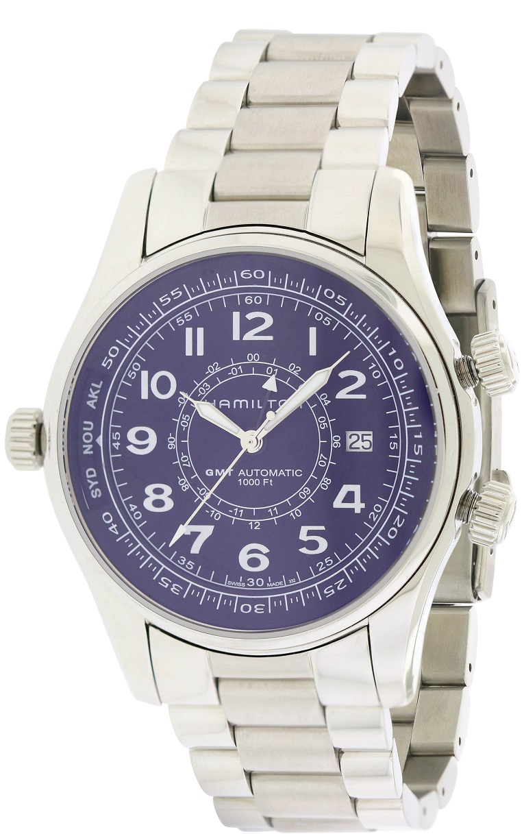 Hamilton Khaki Navy UTC Automatic Chronograph Stainless Steel Mens Watch H77505133