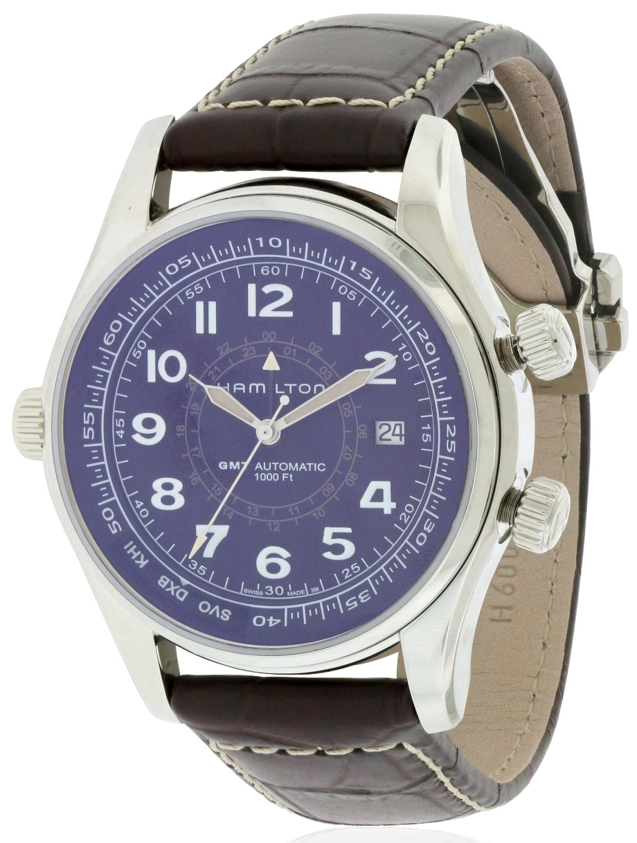 Hamilton Khaki Navi UTC Automatic Leather Mens Watch H77505535