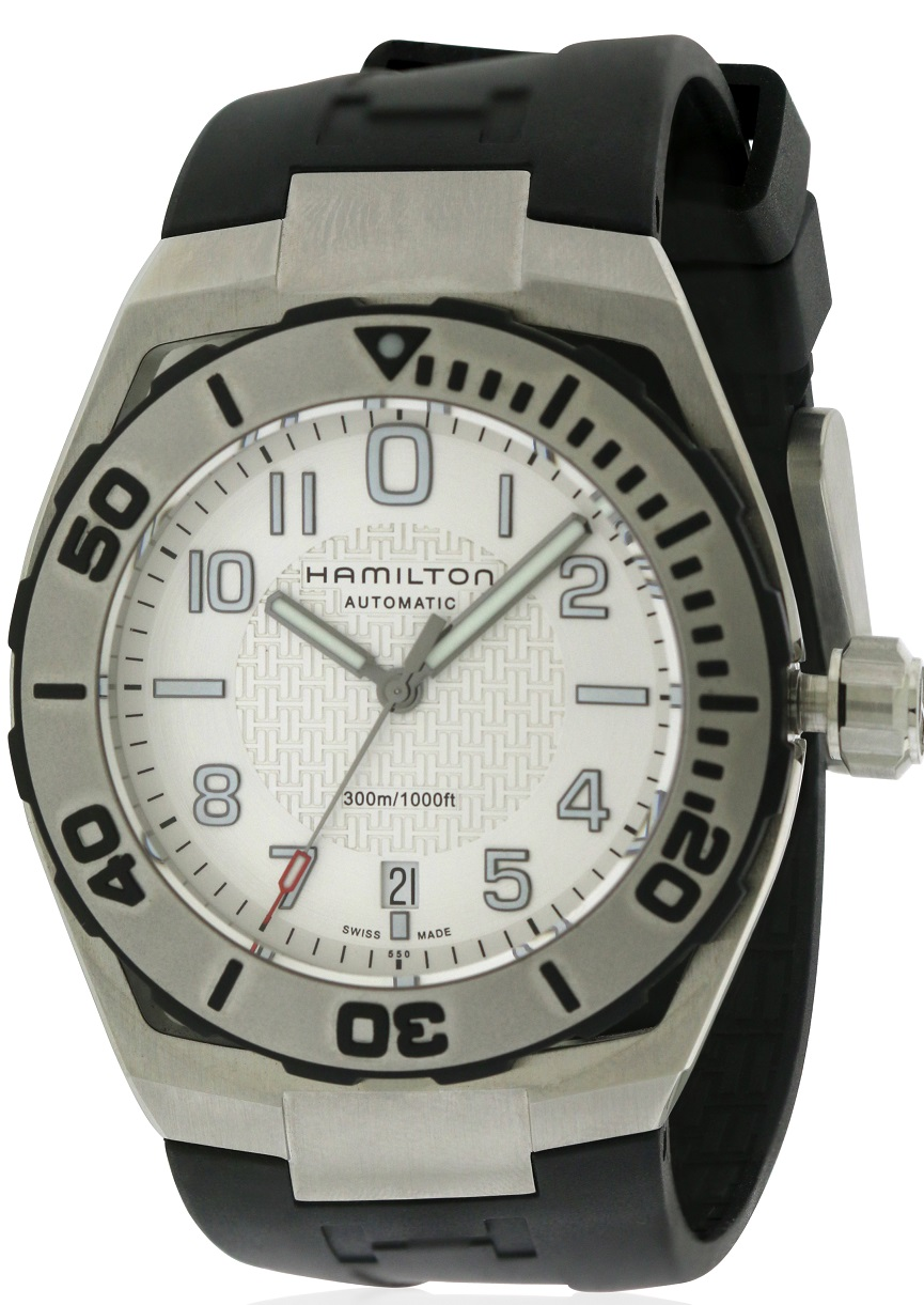 Hamilton Khaki Navy Sub Automatic  rubber Mens Watch H78615355