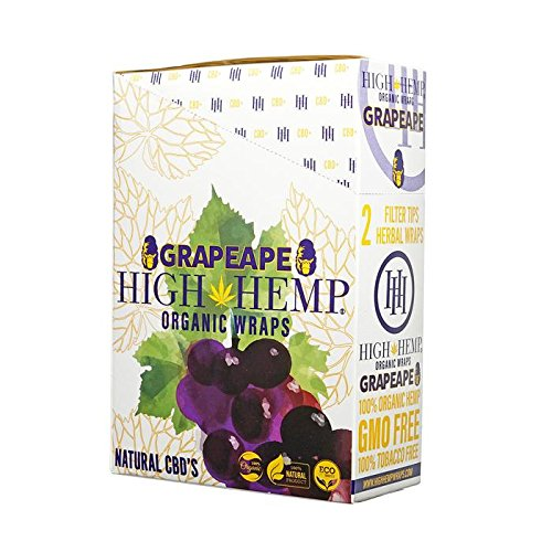 25 Count Blazin Grape Ape Organic Wraps - Tobacco Free - Vegan - Non-GMO! 50 Wraps Total!