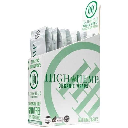 25 Count Blazin Original of Organic Wraps - Tobacco Free - Vegan - Non-GMO! 50 Wraps Total!