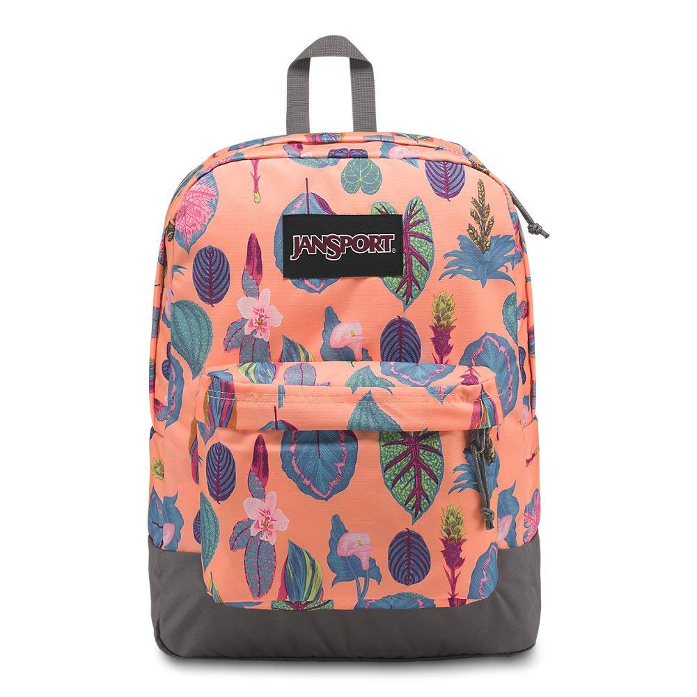 JanSport Black Label Superbreak Backpack - Sherbert Botanical - JS00T60G4T2
