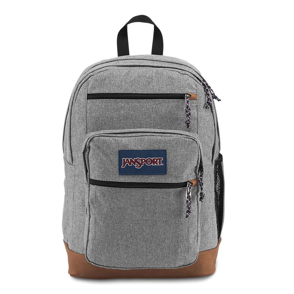 JanSport Cool Student Laptop Backpack - Grey Letterman Poly - JS0A2SDD3CL