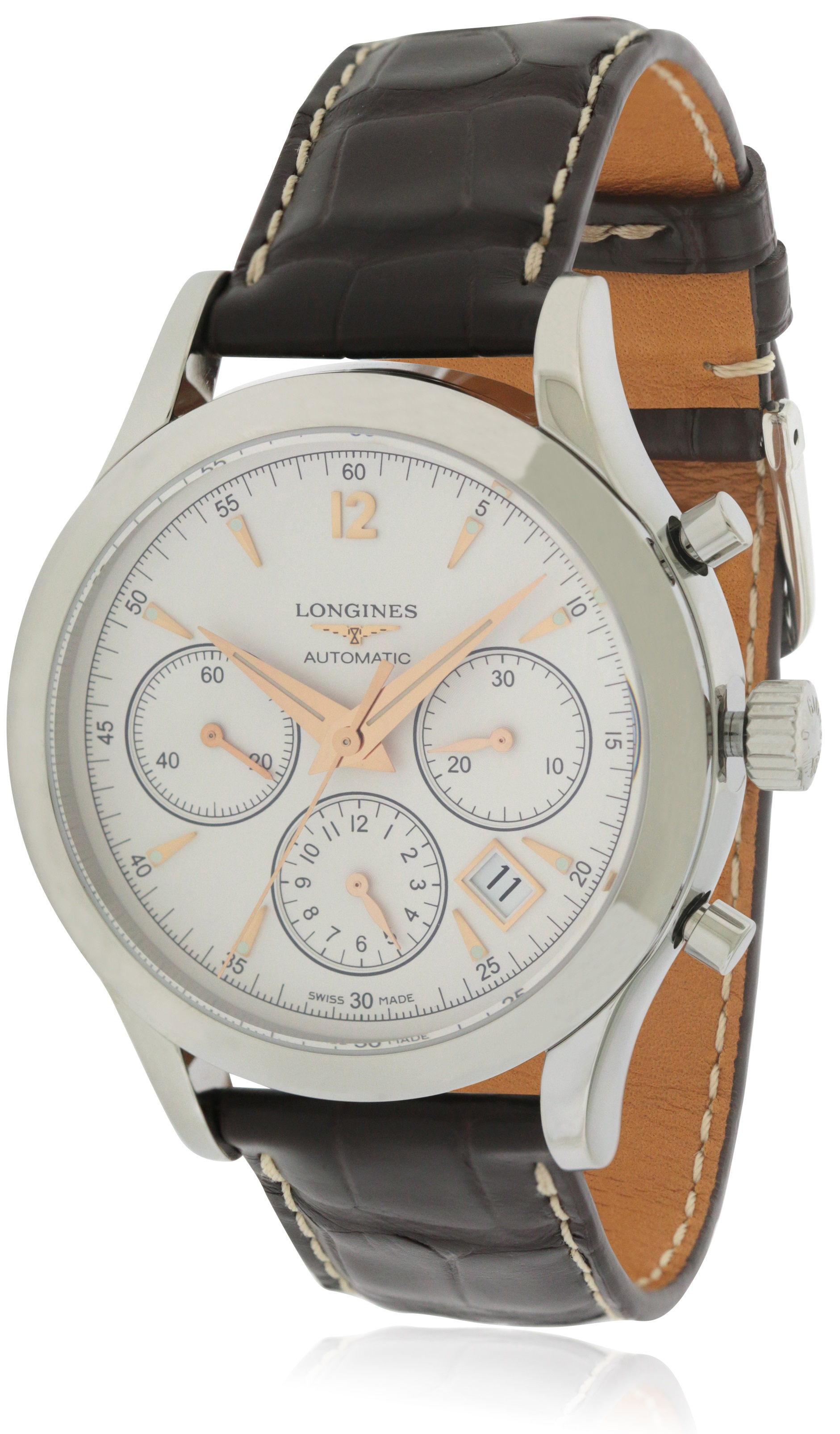 Longines Heritage Chronograph Leather Automatic Mens Watch L27504762