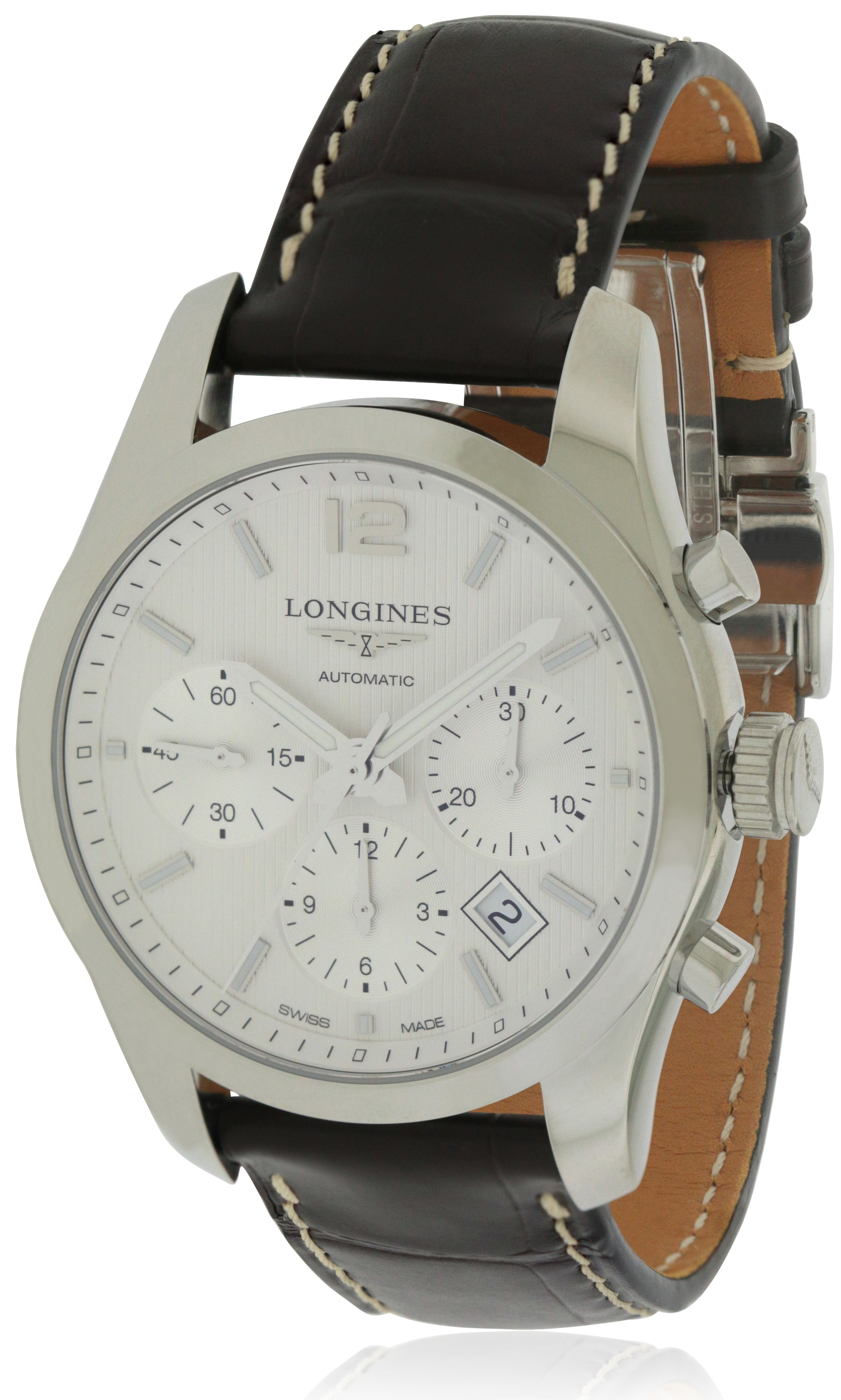 Longines Conquest Leather Chronograph Automatic Mens Watch L27864763
