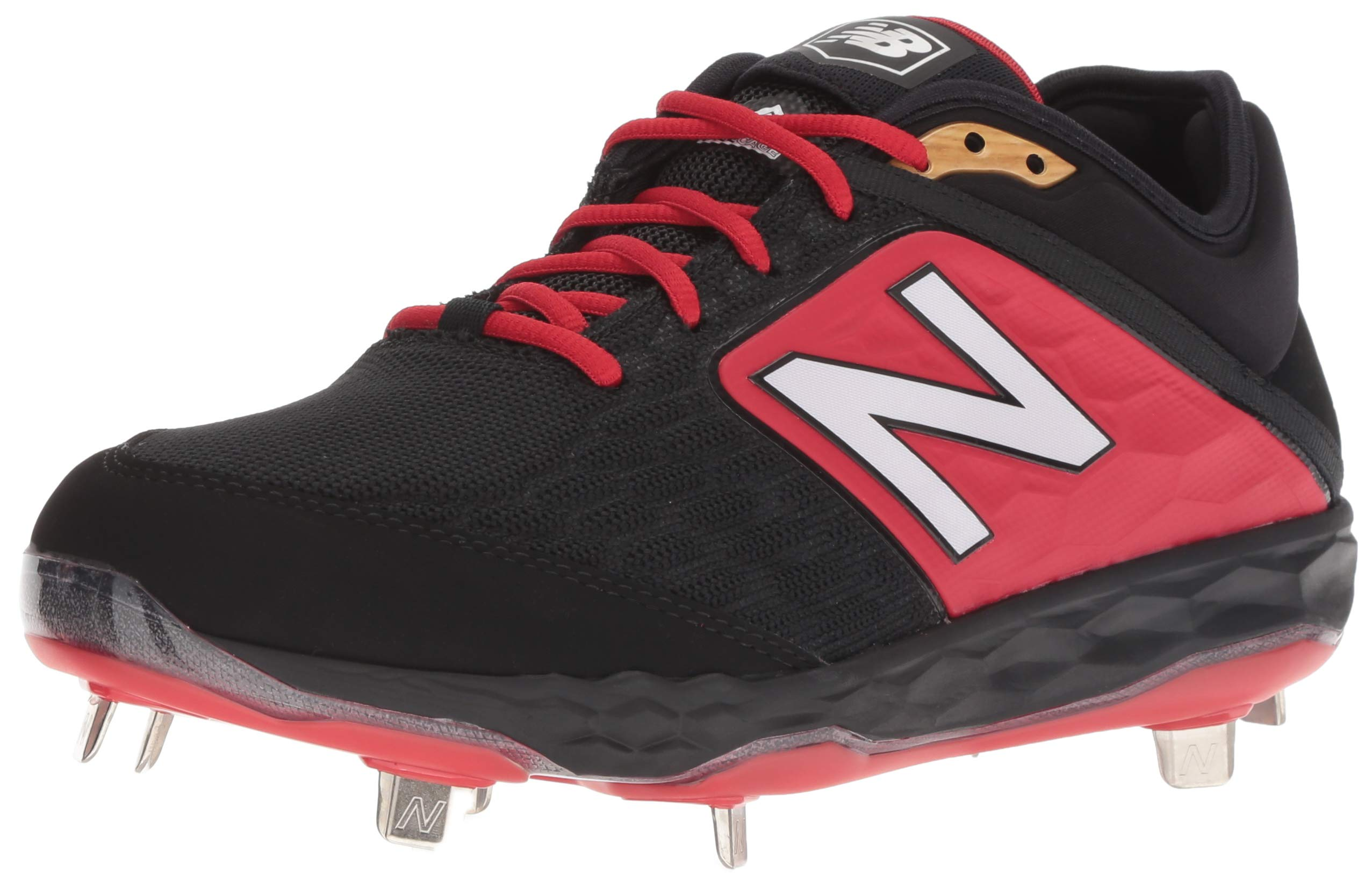 New Balance Mens 3000v4 Baseball Cleats Turf Trainers Shoe - Black/Red
