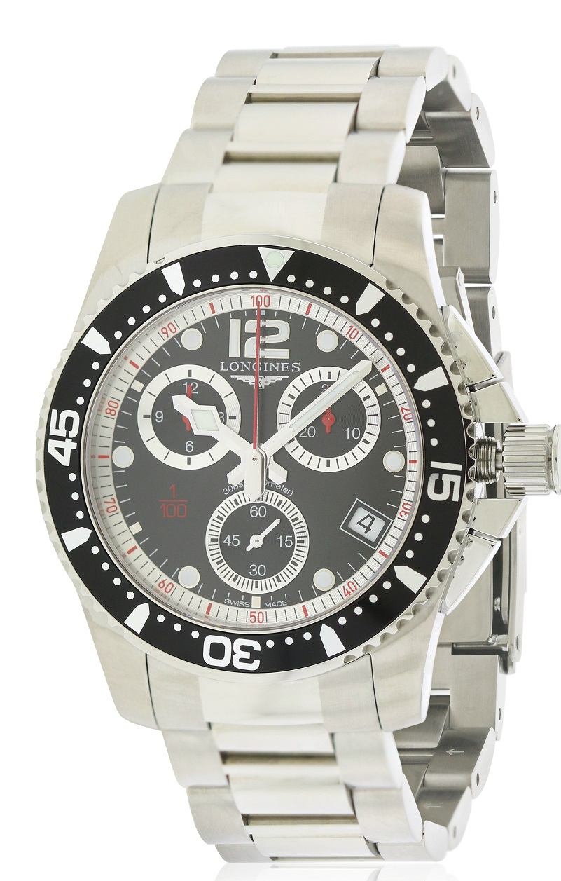 Longines HydroConquest Chronograph Stainless Steel Mens Watch L37434566