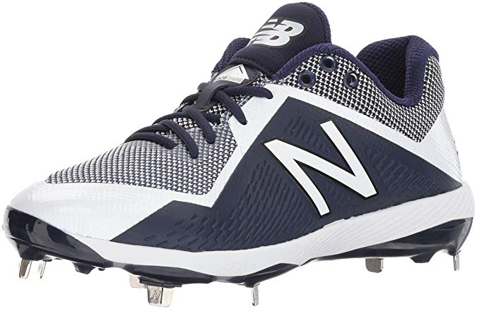 New Balance Mens 4040 V4 Metal Synthetic Baseball Cleats Red/White - Size 10.5
