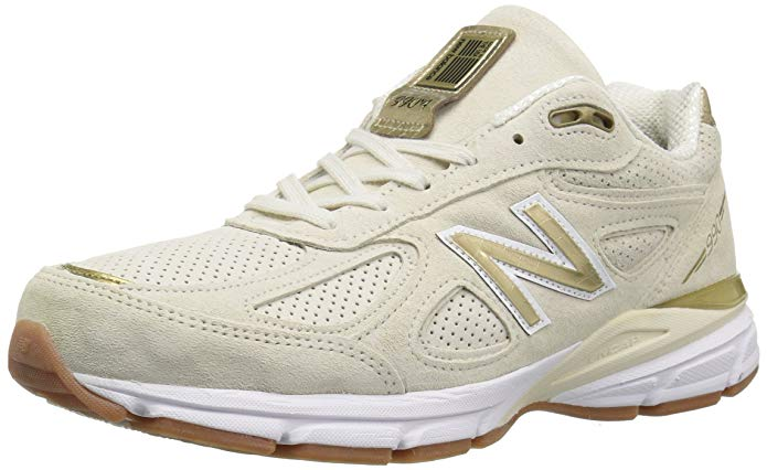 New Balance Mens 990v4 Running Shoe - Angora/White - 12 D