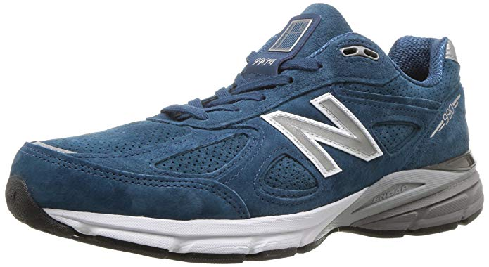 New Balance Mens 990v4 Running Shoe - North Sea/White 8 D