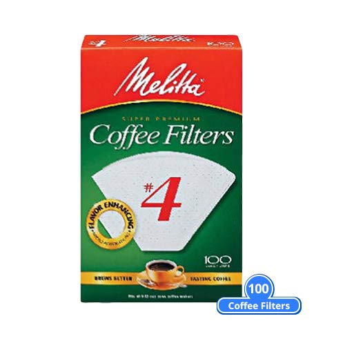 Melitta Cone Coffee Filters - Natural Brown #4 - 100 Count (Pack Of 6)
