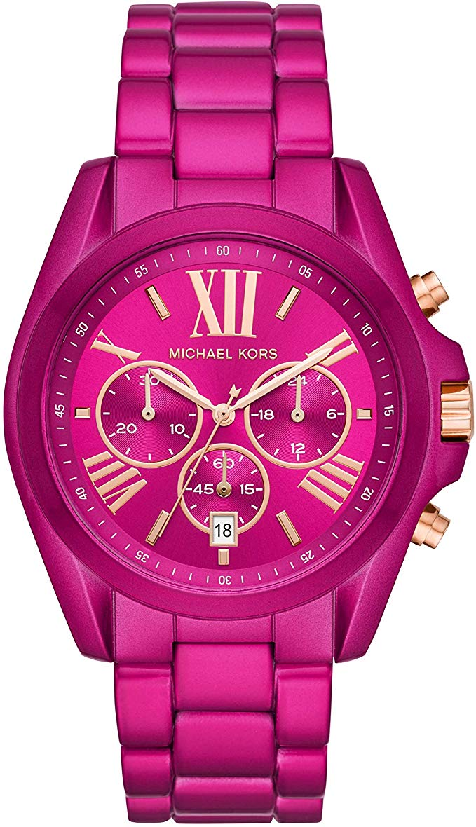 Michael Kors Exclusive Bradshaw Chronograph Pink Stainless Steel Ladies Watch MK6719