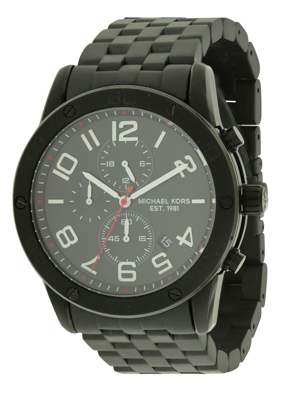 Michael Kors Mercer Black Chronograph Mens Watch MK8350