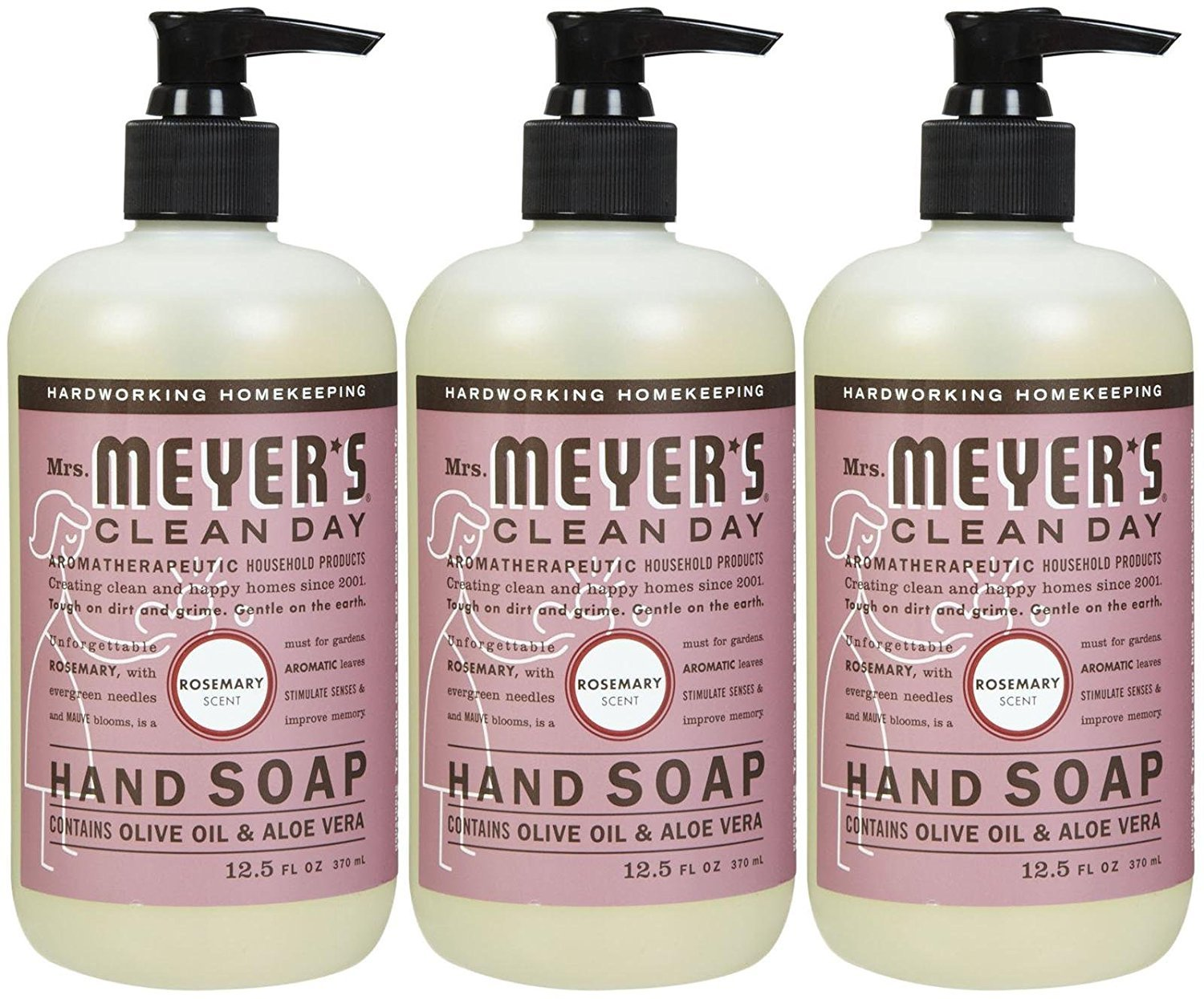 Mrs. Meyers Clean Day Liquid Hand Soap - Rosemary - 3pk - 12.5 oz