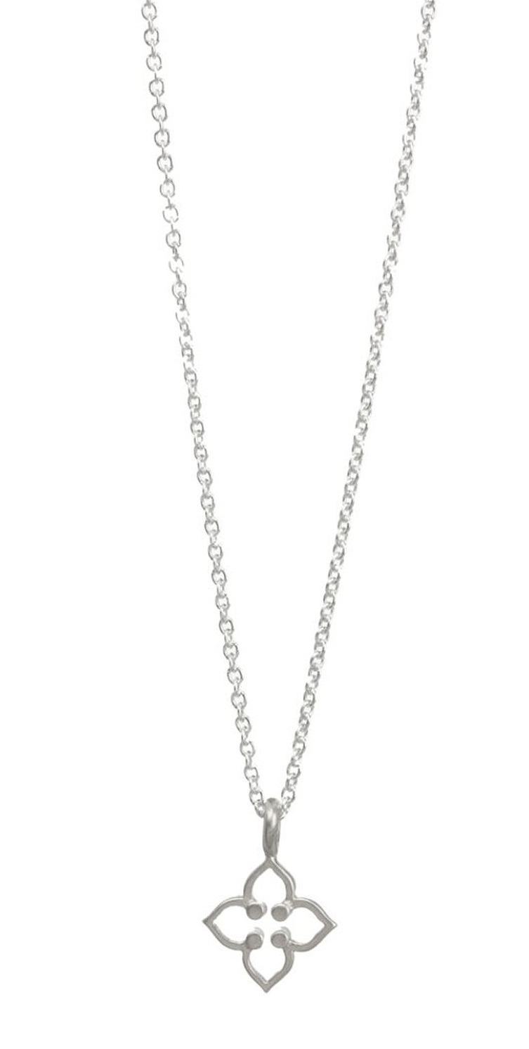 Dogeared Be Your Own Kind Of Beautiful Open Clover Sterling Silver Necklace - MS1129