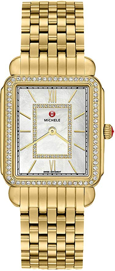 Michele Deco II Diamond Gold-Tone Ladies Watch MWW06I000007