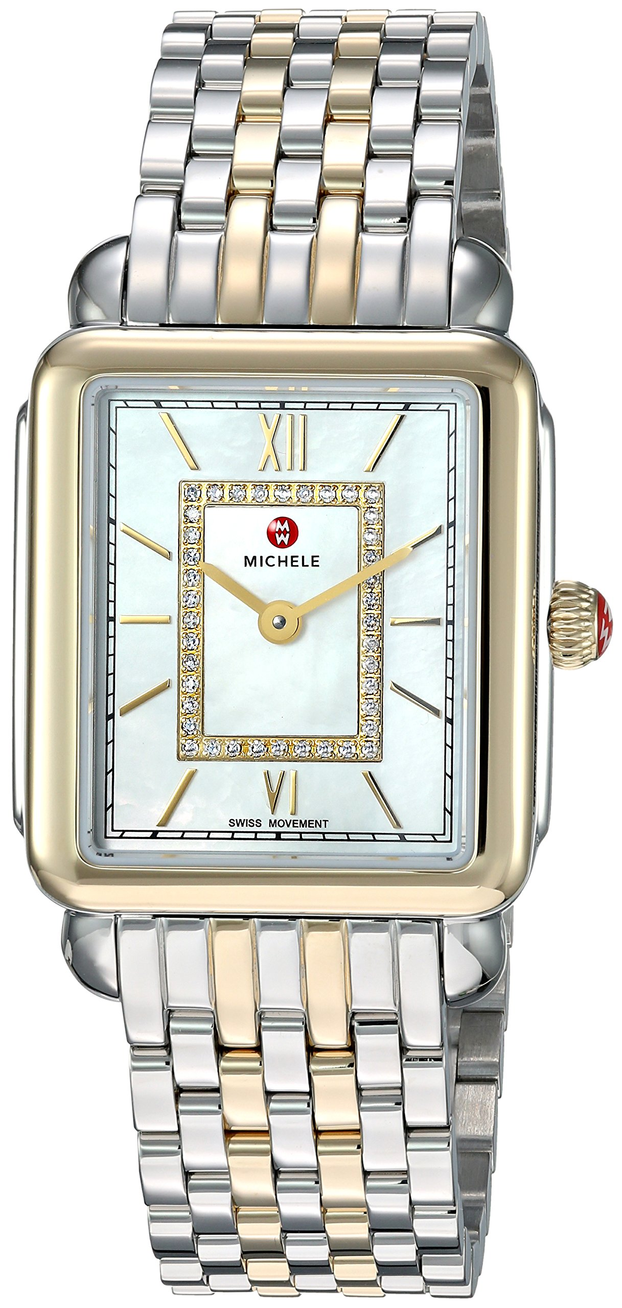 Michele Deco II Diamond Two-Tone Ladies Watch MWW06I000024