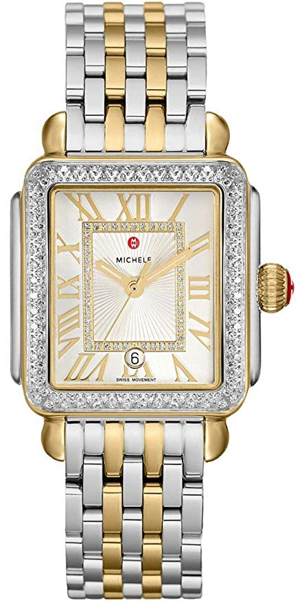 Michele Deco Madison Diamond Two-Tone Ladies Watch MWW06T000144