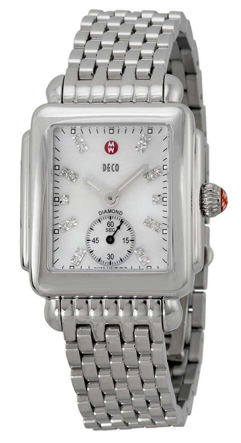 Michele Deco 16 Stainless Steel Diamond Ladies Watch MWW06V000002