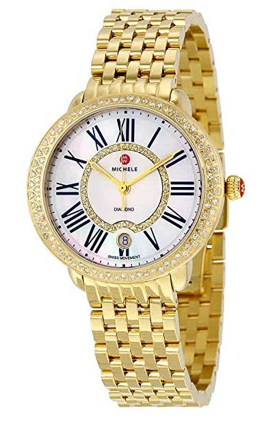 Michele Serein Diamond Gold-Tone Ladies Watch MWW21B000031