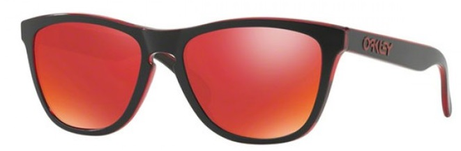 Oakley Frogskins Eclipse Red - Sunglasses - OO9013-A7