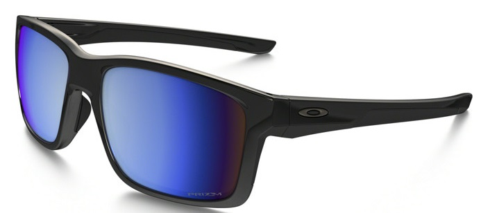 Oakley Mainlink Polarized Polished Black/Prizm Deep Water  Mens Sunglasses - OO9264-926421
