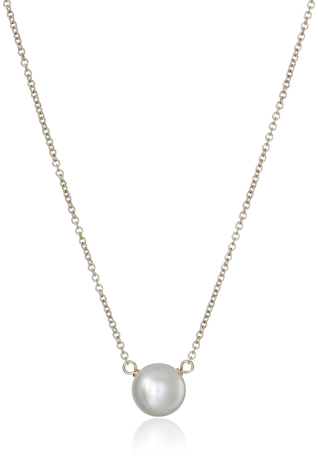 Dogeared Pearls of Love Gold 8mm Freshwater Pearl Necklace - P02018