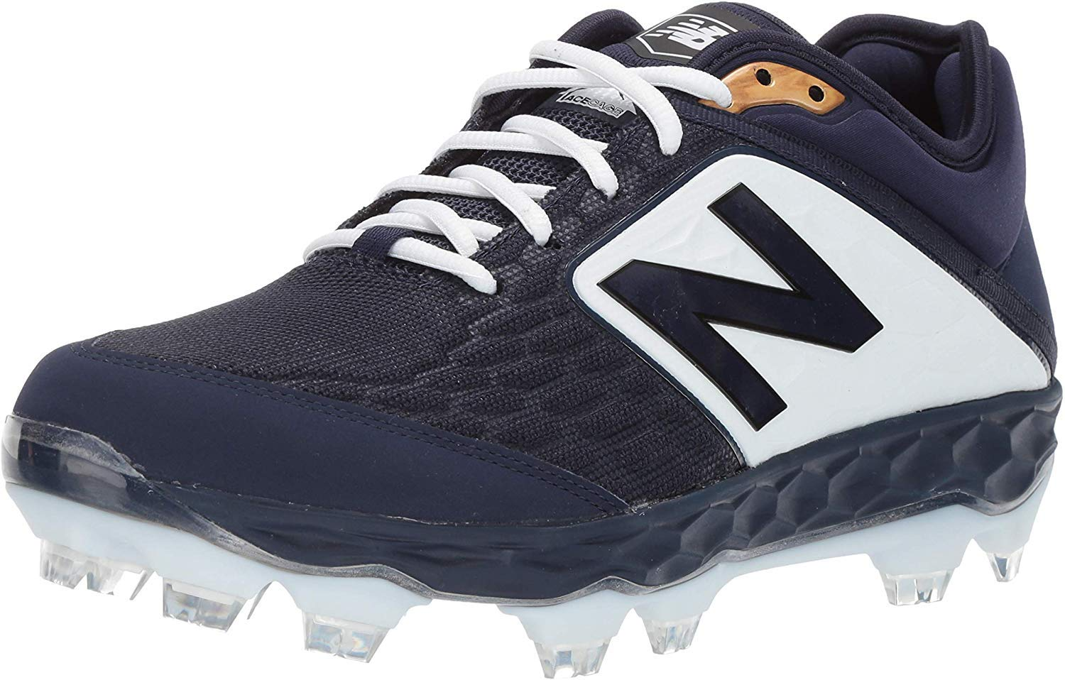 New Balance Mens 3000v4 Baseball Cleats Turf Trainers Shoe - Navy/White/White