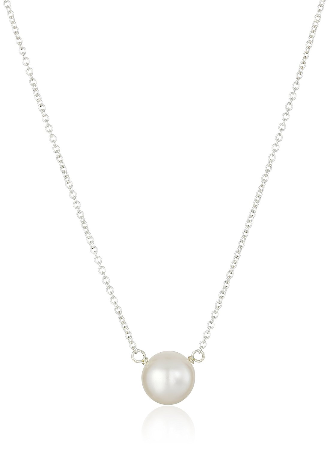 Dogeared Pearls of Wisdom Sterling Silver Freshwater Pearl Necklace - PS2022