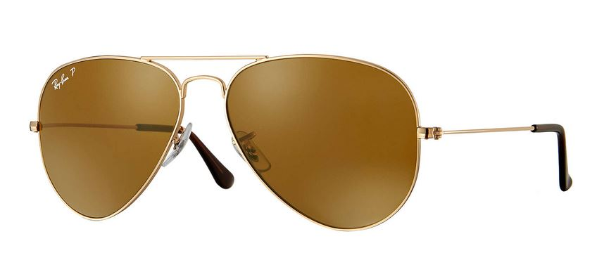 Ray-Ban Aviator Classic Gold Polarized Sunglasses - RB3025-001/57-58