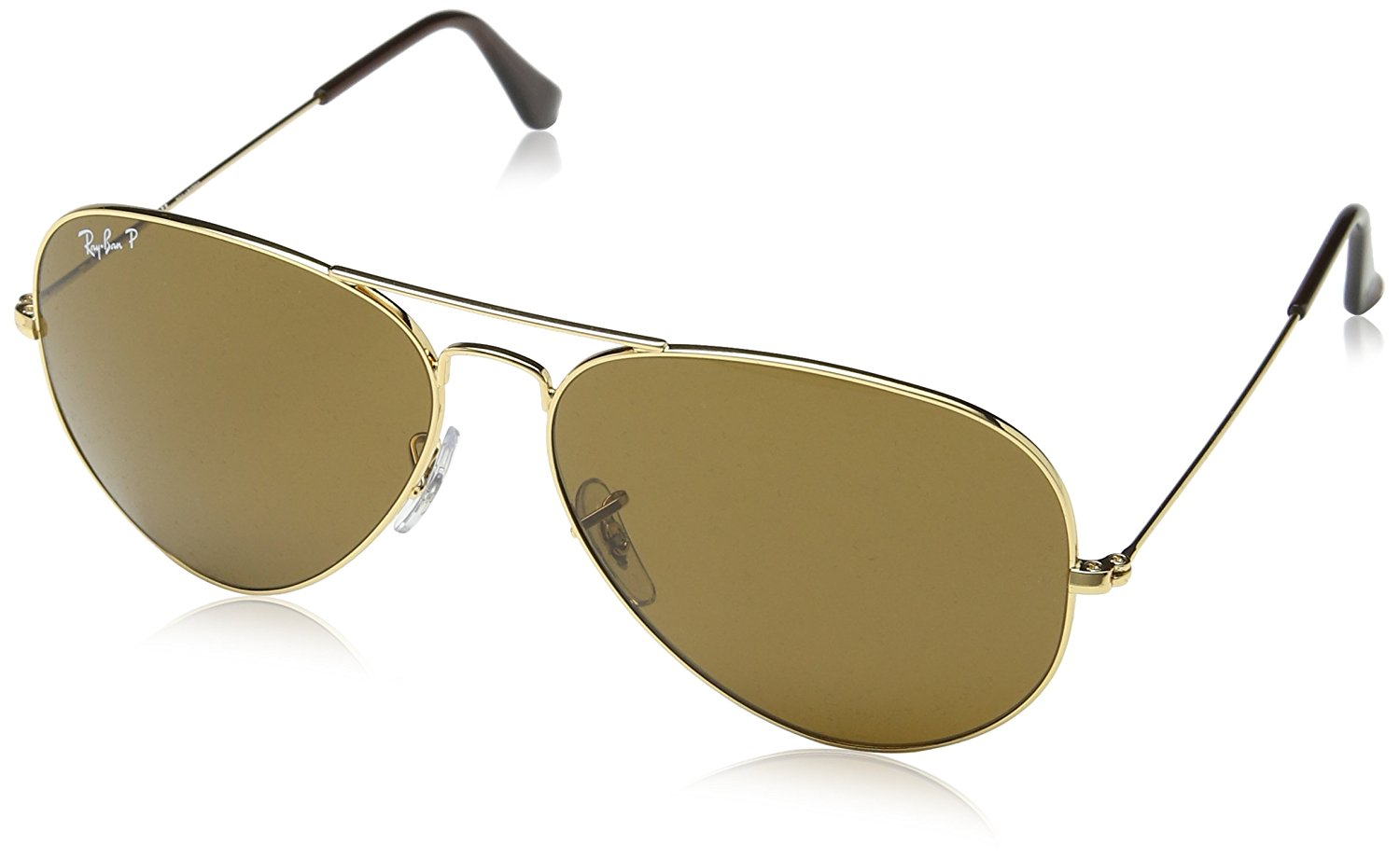 Ray-Ban Aviator Classic Gold Polarized Sunglasses - RB3025-001/57-62