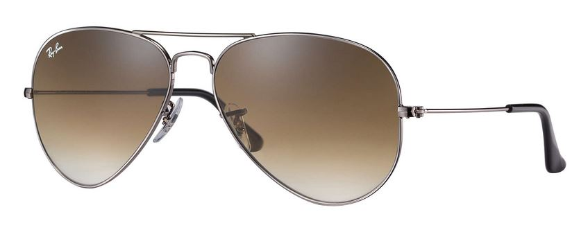 Ray-Ban Aviator Gradient Gunmetal Sunglasses - RB3025-004/51-58
