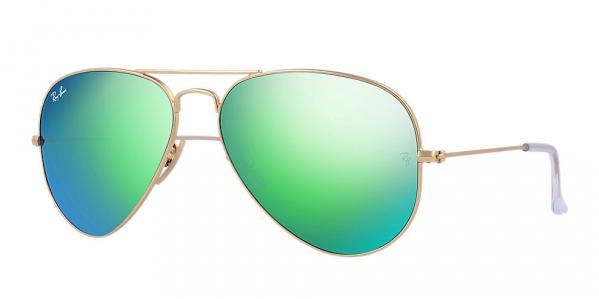 Ray-Ban Aviator Green Flash Sunglasses - RB3025-112/19-62