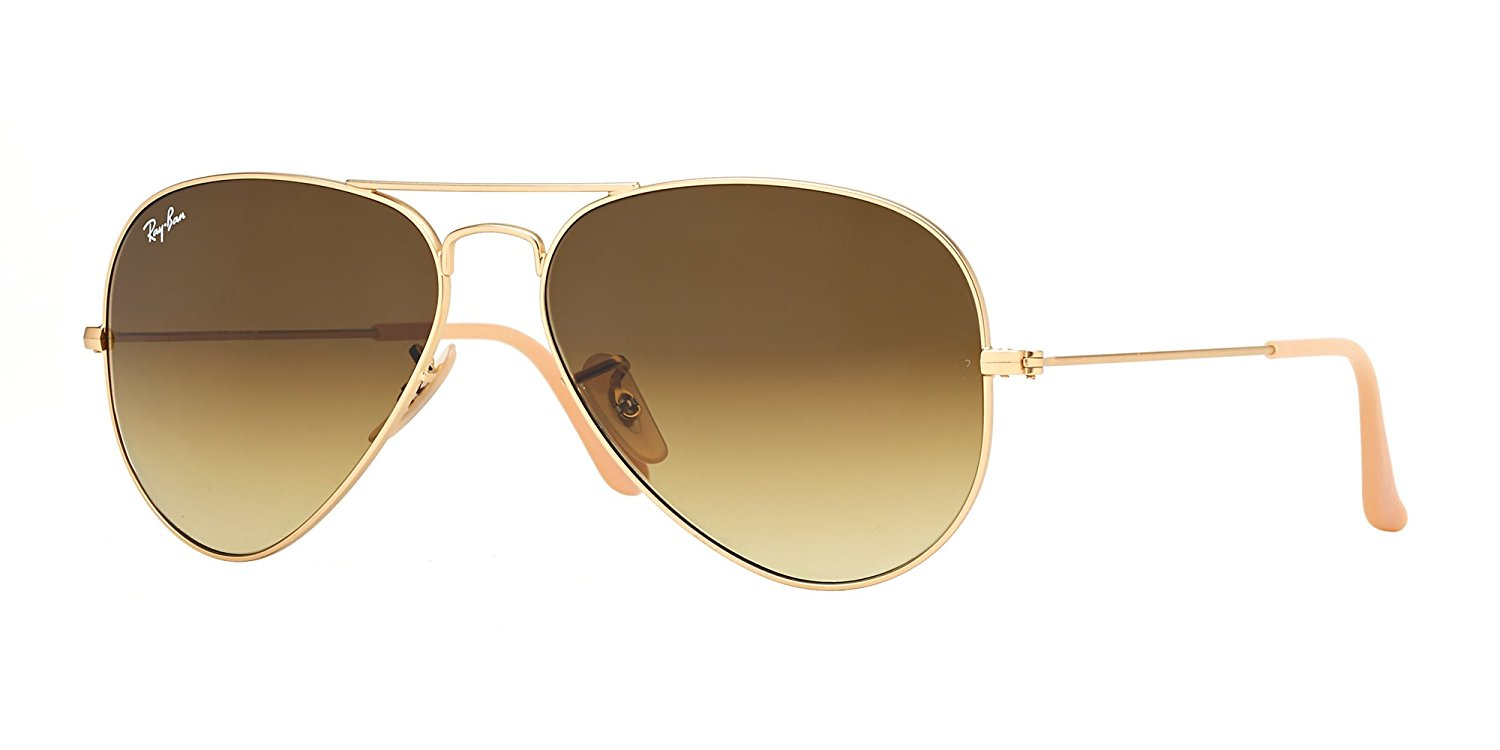 Ray-Ban Aviator Gradient Gold Sunglasses - RB3025-112/85-55
