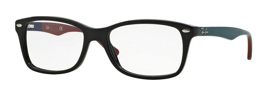 Ray-Ban Matte Black Grey Eyeglasses RX5228-5544-53