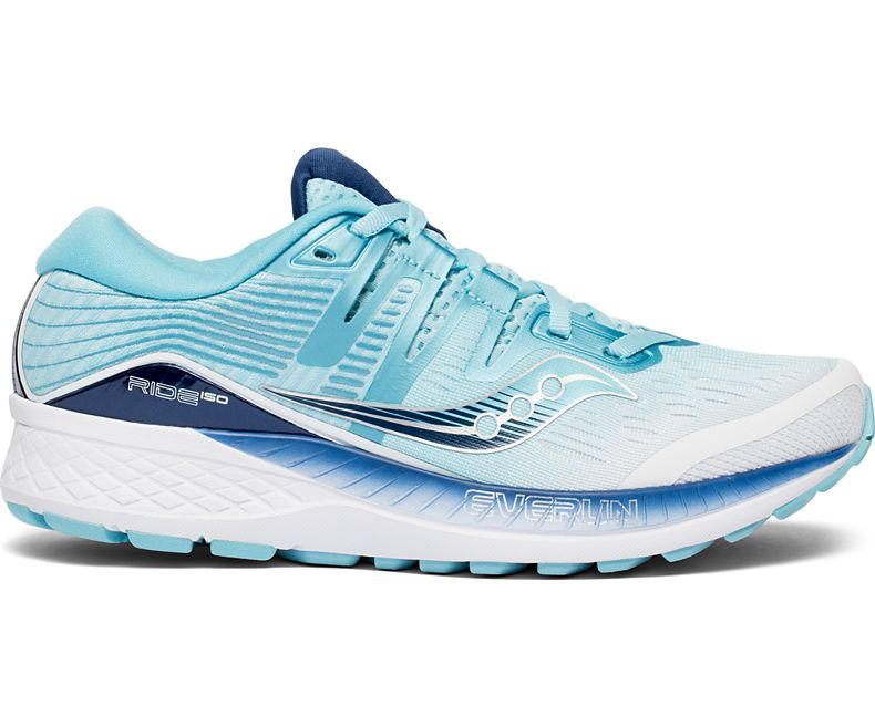 Saucony Womens Omni ISO Running Shoe Sneaker - White/Blue - Size 8.5