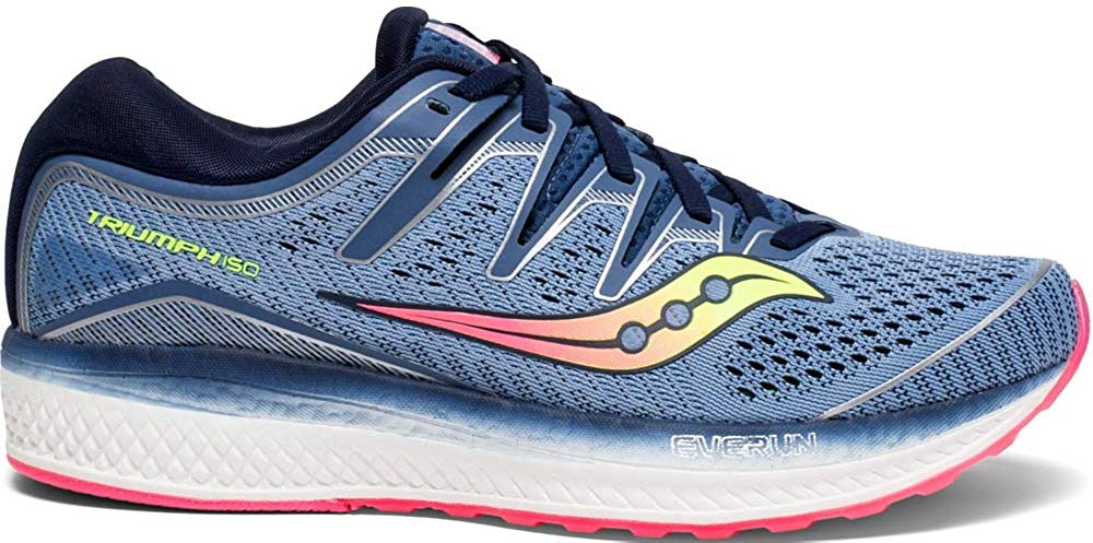 Saucony Womens Triumph ISO 5 Running Shoe - Blue/Navy - Size 6