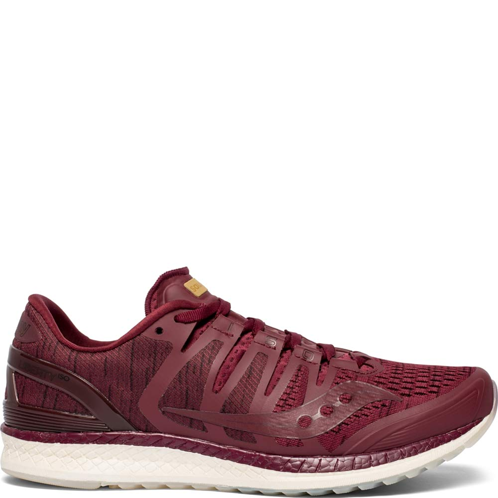 Saucony Liberty ISO Mens Running Shoes Sneakers - Burgundy Shade - 9.5
