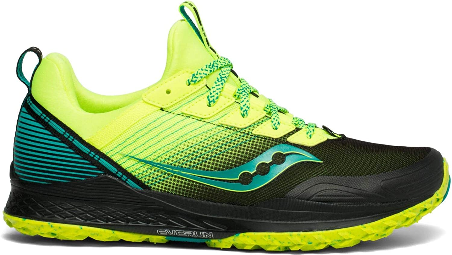 Saucony Mens Mad River TR Trail Running Shoe - Citron/Black - 8