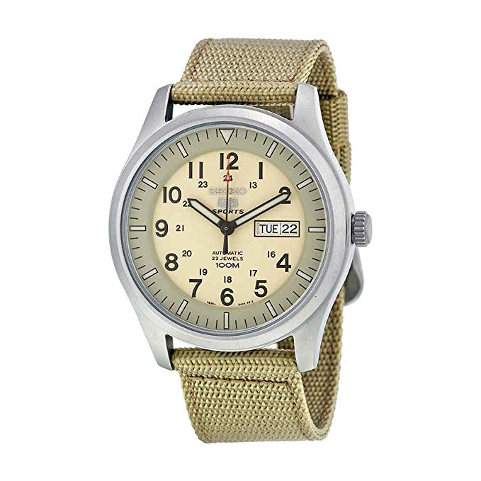 Seiko 5 Automatic Canvas Mens Watch SNZG07K1