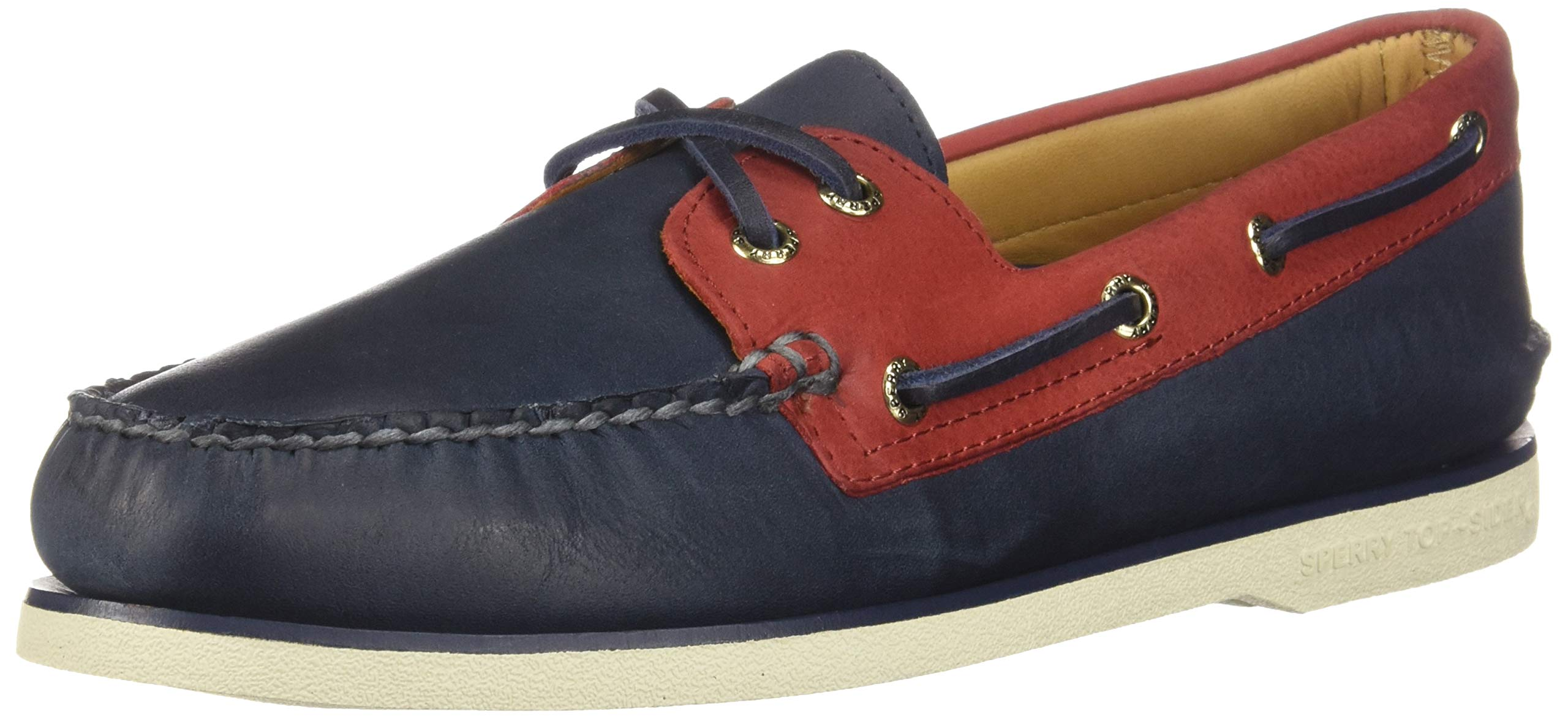 Sperry Mens Gold Cup Authentic Original Chevre Boat Shoe 9.5 Navy/Red
