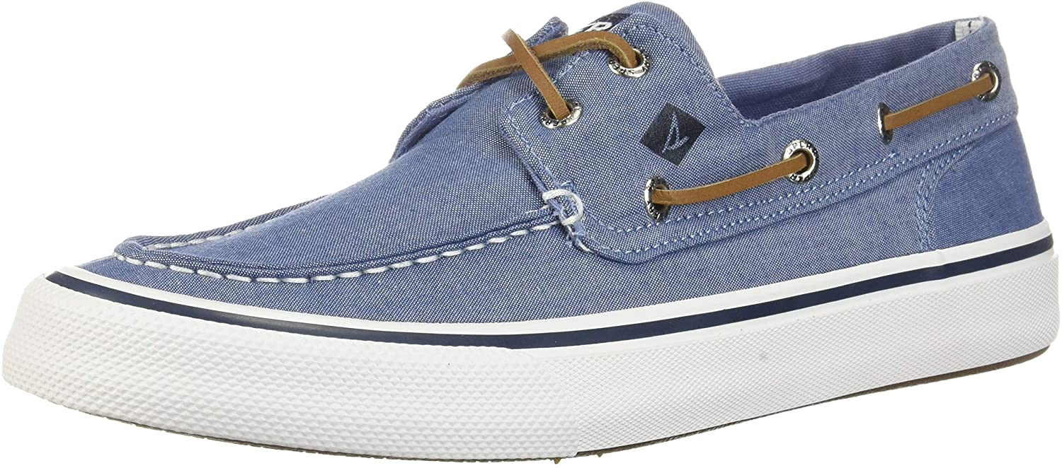 Sperry Bahama II Oxford Shirt Sneaker- Navy - 11.5