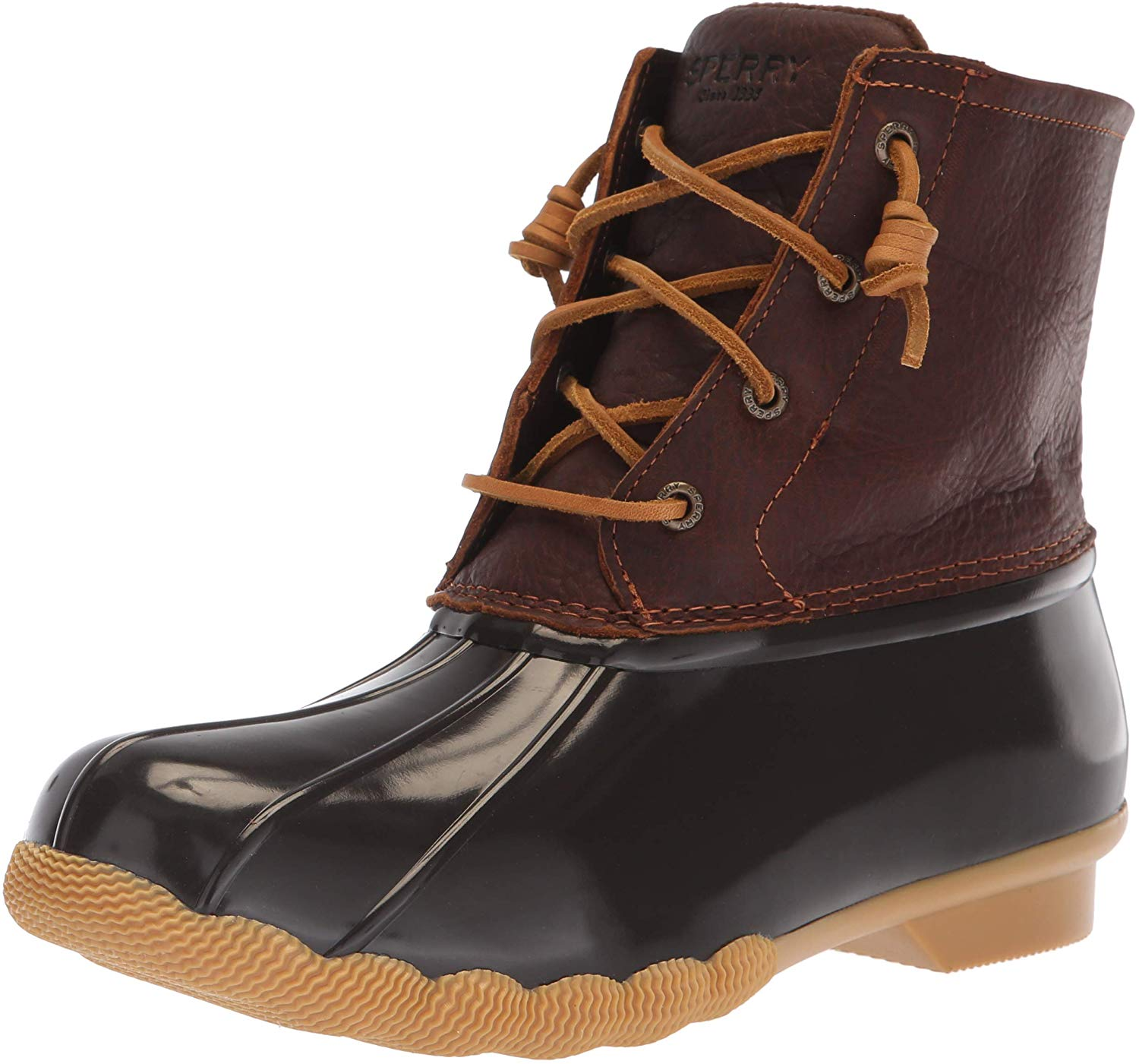 Sperry Womens Saltwater Boots - Tan/Dark Brown - 5