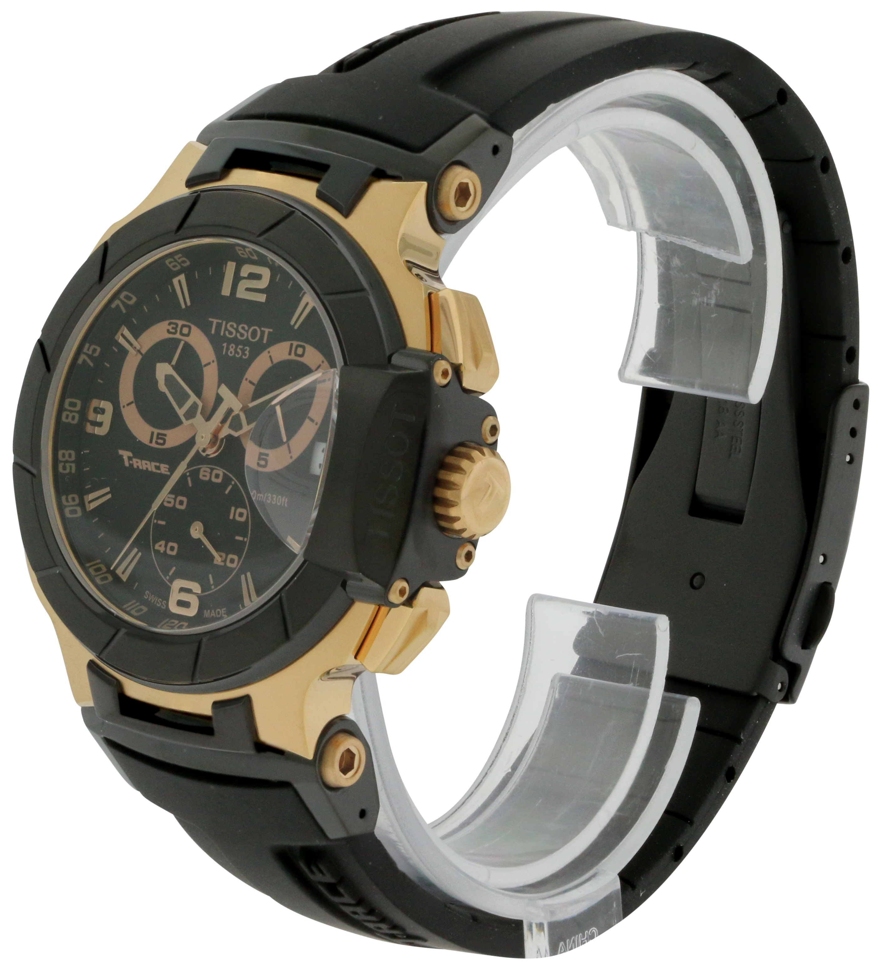 1518859e63b2 Tissot T-Race Rose Gold Chronograph Mens Watch T0484172705706